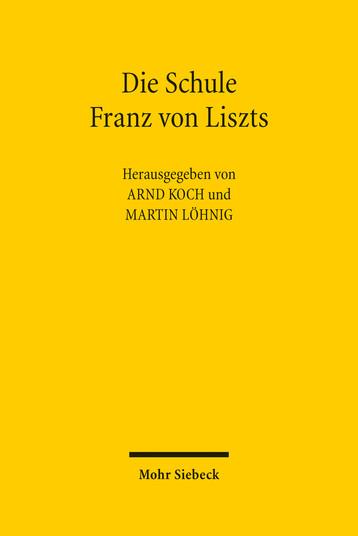 Die Schule Franz von Liszts