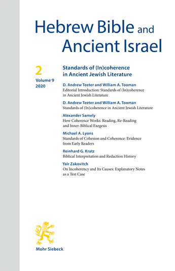 Standards of (In)coherence in Ancient Jewish Literature