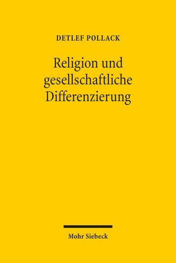 Religion und gesellschaftliche Differenzierung