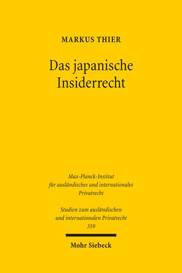 Das japanische Insiderrecht