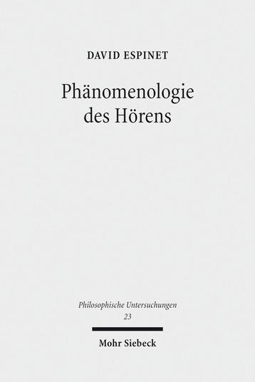 Phänomenologie des Hörens