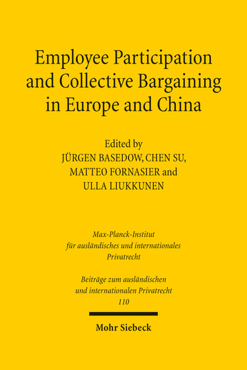 Employee Participation and Collective Bargaining in Europe and China