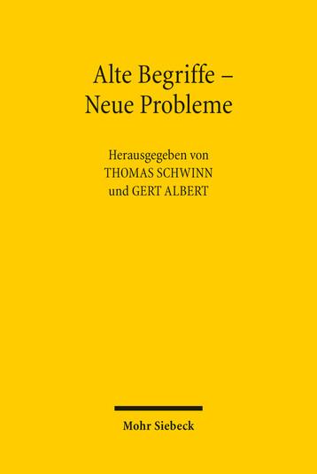 Alte Begriffe – Neue Probleme