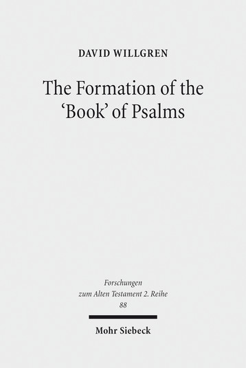 The Formation of the 'Book' of Psalms