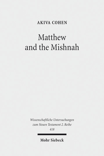 Matthew and the Mishnah