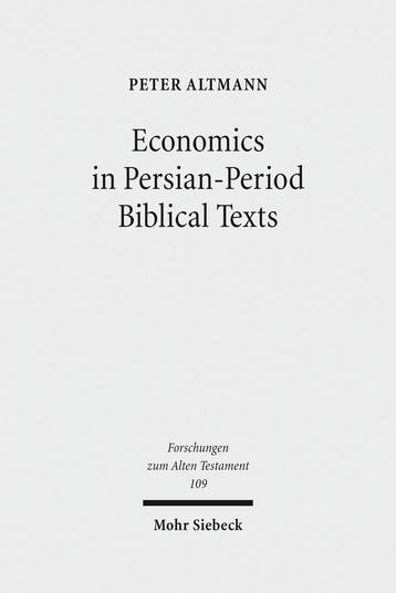 Economics in Persian-Period Biblical Texts