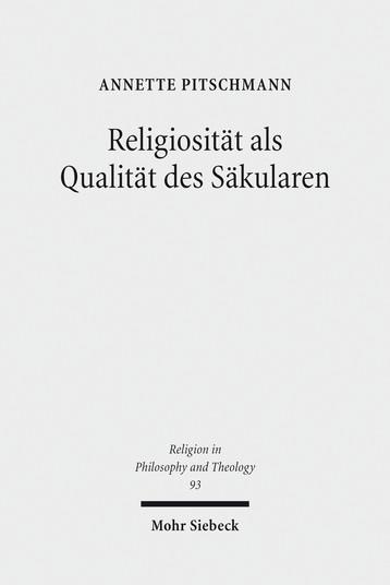Religiosität als Qualität des Säkularen