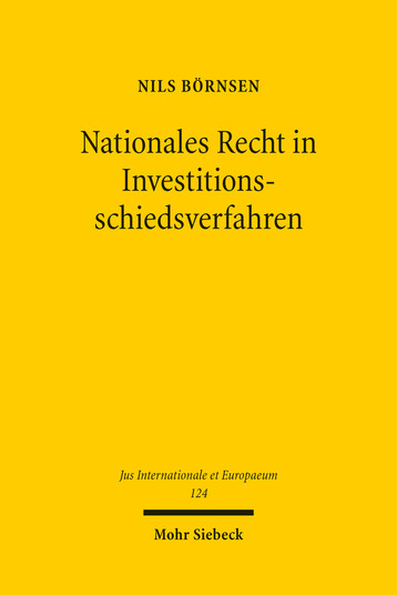 Nationales Recht in Investitionsschiedsverfahren