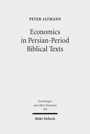 Economics in Persian-Period Biblical Texts
