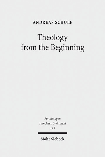 Theology from the Beginning