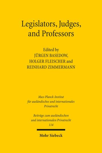 Legislators, Judges, and Professors