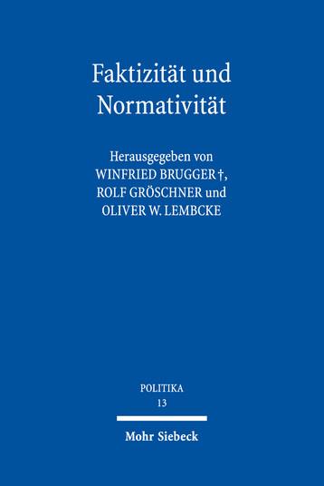 Faktizität und Normativität