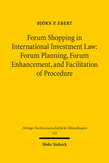 Forum Shopping in International Investment Law