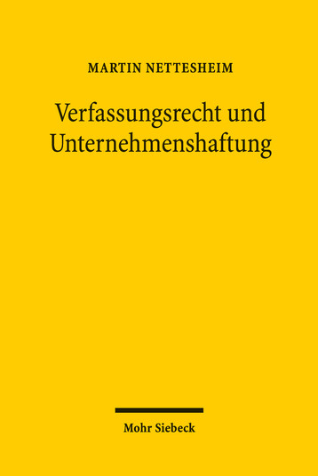 Verfassungsrecht und Unternehmenshaftung
