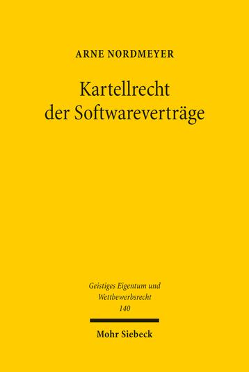 Kartellrecht der Softwareverträge