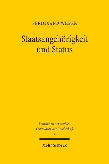 Staatsangehörigkeit und Status