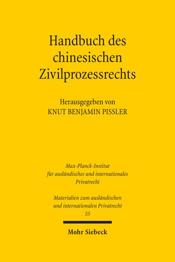 Handbuch des chinesischen Zivilprozessrechts