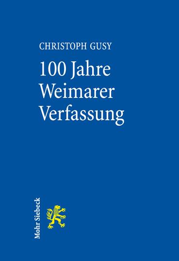 100 Jahre Weimarer Verfassung