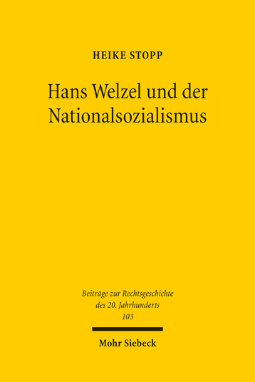 Hans Welzel und der Nationalsozialismus