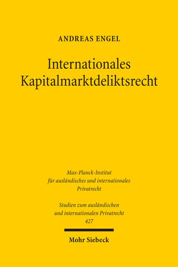 Internationales Kapitalmarktdeliktsrecht