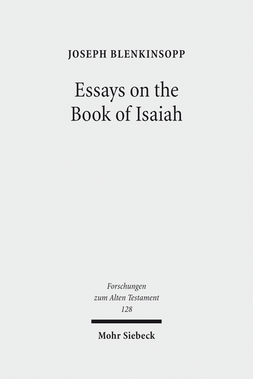 Essays on the Book of Isaiah