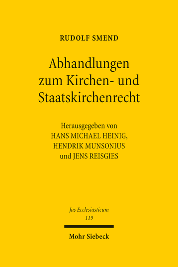 Abhandlungen zum Kirchen- und Staatskirchenrecht