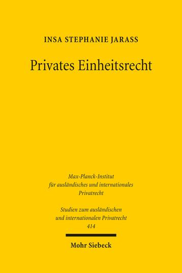 Privates Einheitsrecht