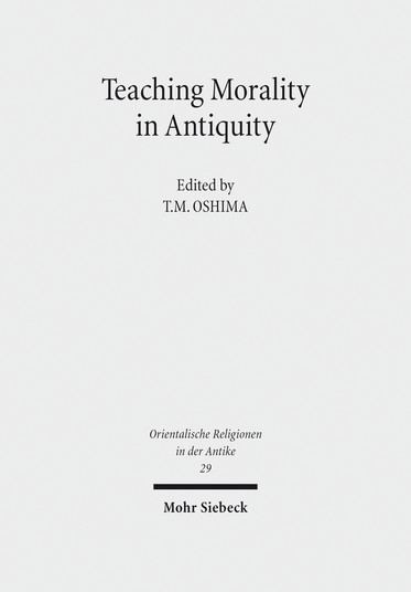 Teaching Morality in Antiquity