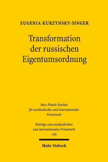 Transformation der russischen Eigentumsordnung