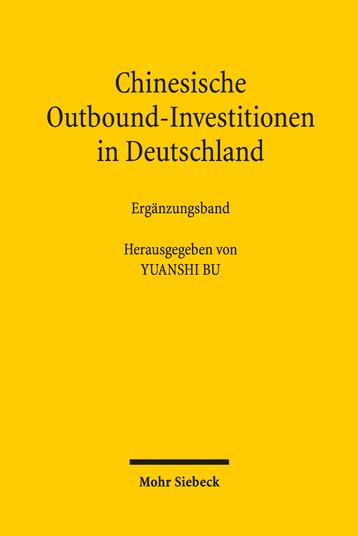 Chinesische Outbound-Investitionen in Deutschland