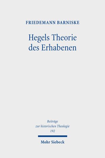 Hegels Theorie des Erhabenen