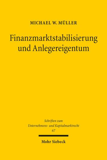 Finanzmarktstabilisierung und Anlegereigentum