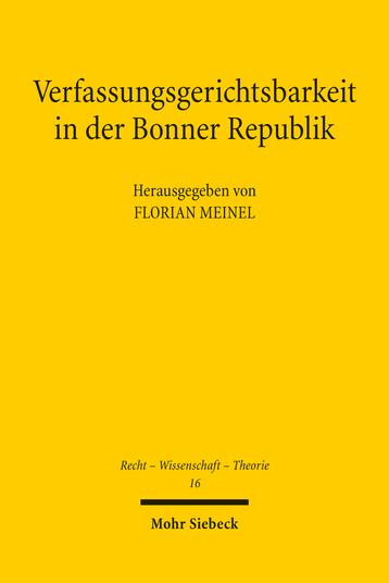Verfassungsgerichtsbarkeit in der Bonner Republik
