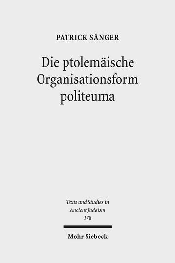 Die ptolemäische Organisationsform politeuma
