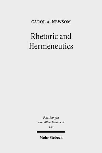 Rhetoric and Hermeneutics