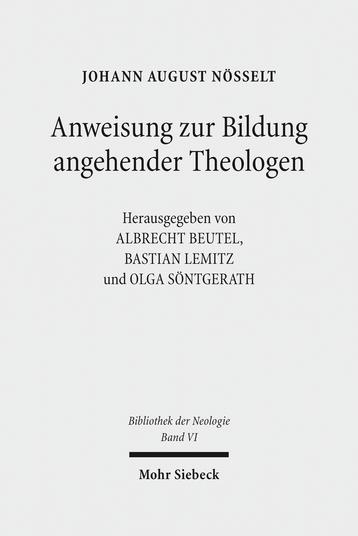 Anweisung zur Bildung angehender Theologen