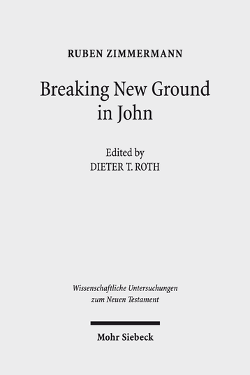 Breaking New Ground in John