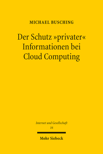 Der Schutz »privater« Informationen bei Cloud Computing