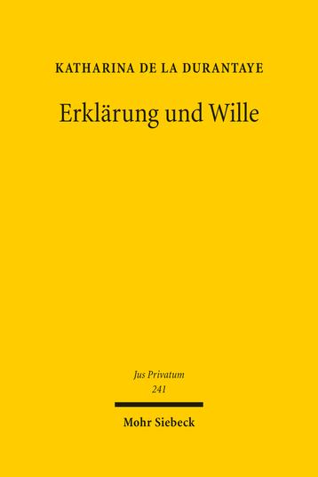 Erklärung und Wille