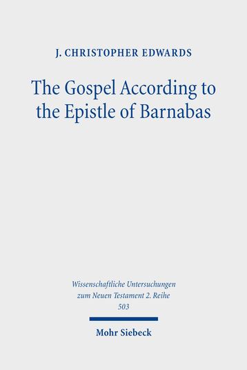 The Gospel According to the Epistle of Barnabas