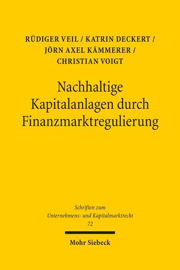 Nachhaltige Kapitalanlagen durch Finanzmarktregulierung