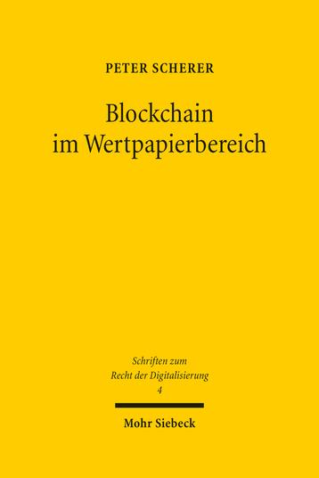 Blockchain im Wertpapierbereich