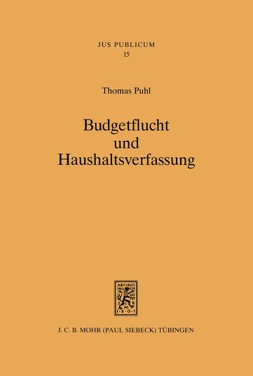 Budgetflucht und Haushaltsverfassung