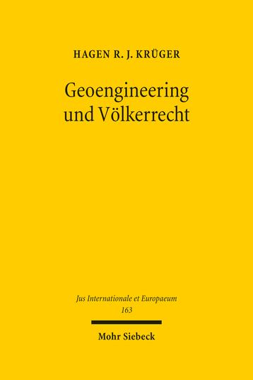 Geoengineering und Völkerrecht