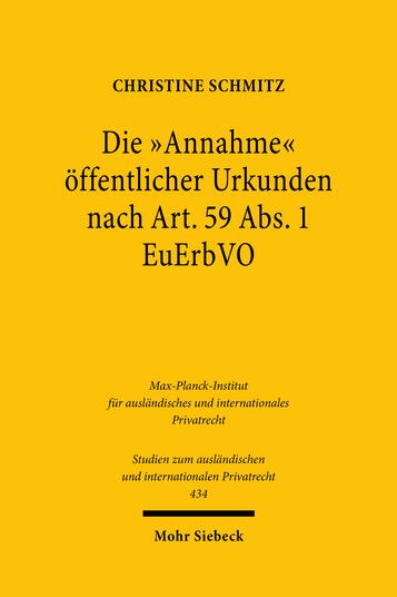 Die »Annahme« öffentlicher Urkunden nach Art. 59 Abs. 1 EuErbVO