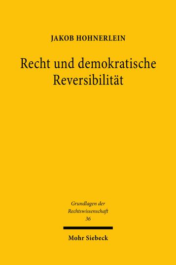 Recht und demokratische Reversibilität