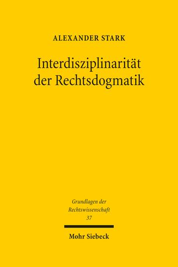 Interdisziplinarität der Rechtsdogmatik