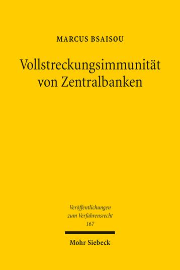 Vollstreckungsimmunität von Zentralbanken