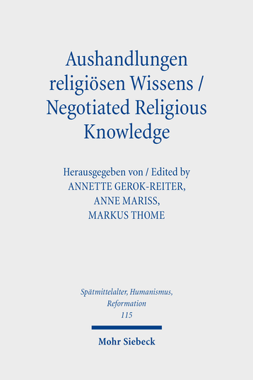 Aushandlungen religiösen Wissens – Negotiated Religious Knowledge