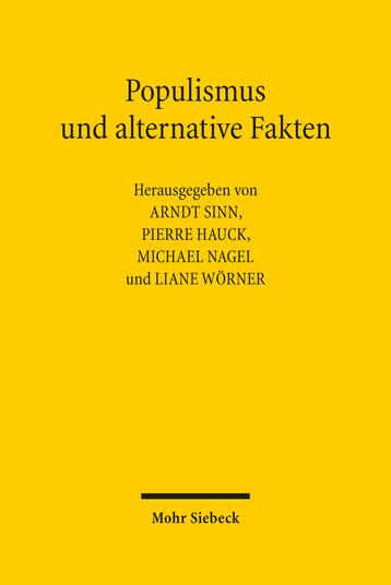 Populismus und alternative Fakten